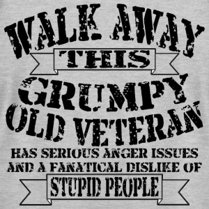 Grumpy Old Veteran - Men's T-Shirt by American Apparel