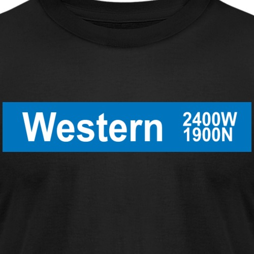 Western Blue Line - Unisex Jersey T-Shirt by Bella + Canvas