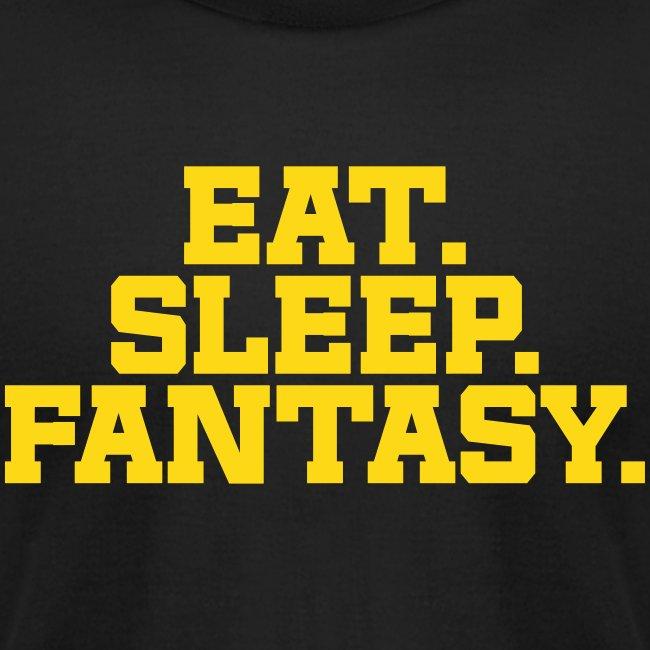 Eat. Sleep. Fantasy. (Turquoise & Metallic Gold)