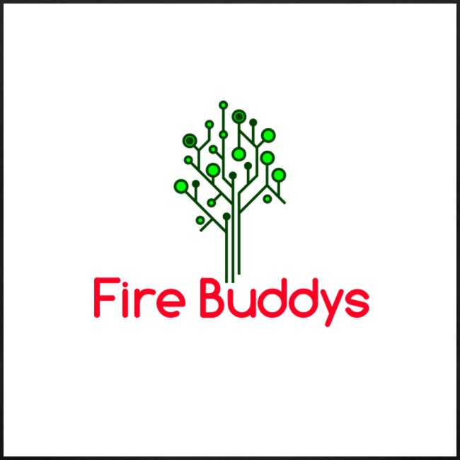 Fire Buddys Website Logo White Tee-shirt eco
