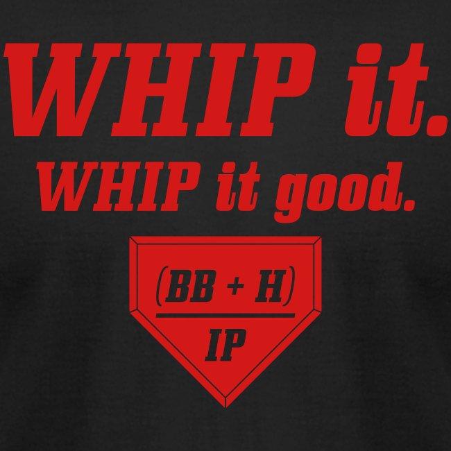WHIP it good. (BB + H) / IP