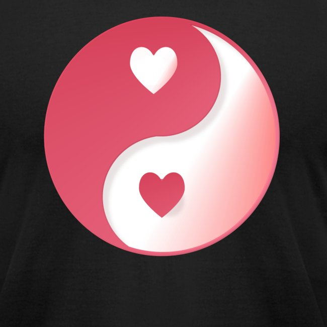 Hot Pink Valentine Yin-Yang