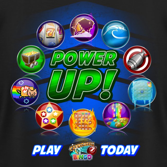 Vintage Cannonball Bingo Power-Up Tee
