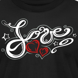 Love logo, Tribal and Tattoo style - Men's T-Shirt by American Apparel