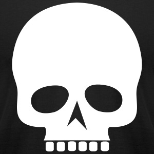 Black Skull Silhouette - Men's T-Shirt by American Apparel