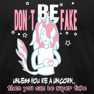 fake unicorn - Men's T-Shirt by American Apparel