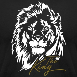 Lion The King - Men's T-Shirt by American Apparel