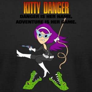 Kitty Danger Adventure - Men's T-Shirt by American Apparel