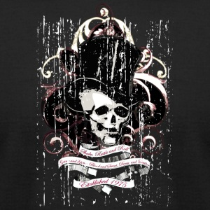 skull_with_hat - Men's T-Shirt by American Apparel