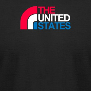 The United States Waterfall - Men's T-Shirt by American Apparel