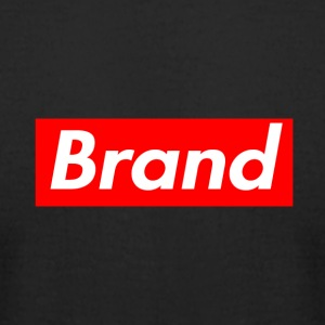 Generic Red Box Brand Rectangular Logo Shirt - Men's T-Shirt by American Apparel