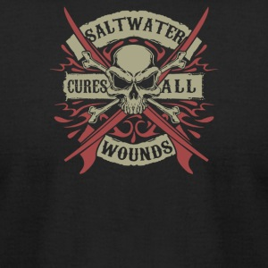 Salt Water Cures All Wounds - Men's T-Shirt by American Apparel