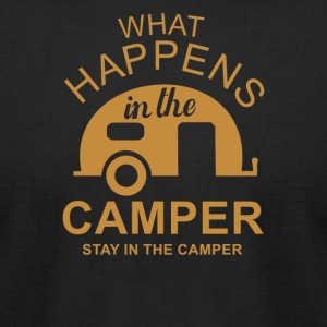 What Happens In Camper Stays In Camper - Men's T-Shirt by American Apparel