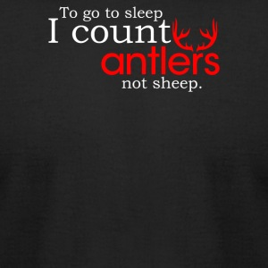 I Count Antlers Not Sheep - Men's T-Shirt by American Apparel