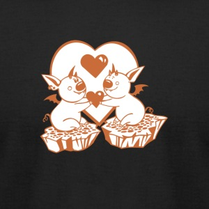 Valentine Bats with Heart - Men's T-Shirt by American Apparel