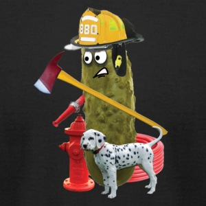 Firefighter Pickle - Men's T-Shirt by American Apparel