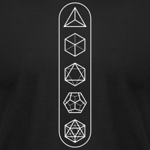 platonic-solids - Men's T-Shirt by American Apparel