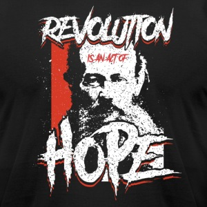 Kropotkin - Revolution Is Hope - Men's T-Shirt by American Apparel