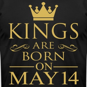 Kings are born on May 14 - Men's T-Shirt by American Apparel