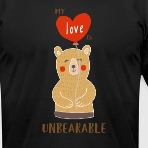 Cute My Love Is Unbearable - Men's T-Shirt by American Apparel