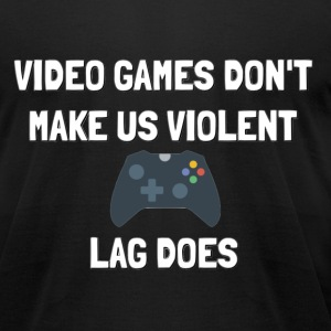 Video Games don't make us violent - Men's T-Shirt by American Apparel