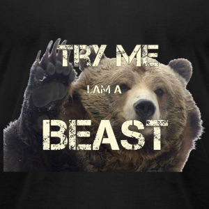 TRY ME BEAST - Men's T-Shirt by American Apparel