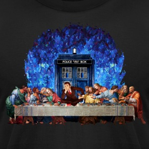Time traveller lost in the last supper - Men's T-Shirt by American Apparel