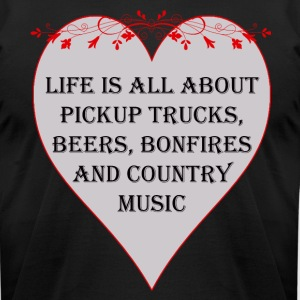 Life is all about Country Music - Men's T-Shirt by American Apparel