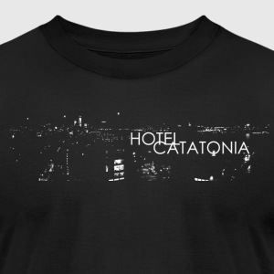 Hotel Catatonia logo image - Men's T-Shirt by American Apparel