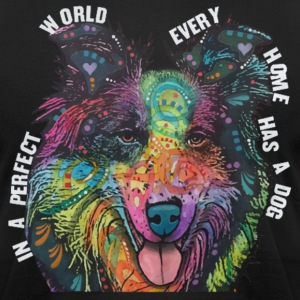 Collie In Every Home - Men's T-Shirt by American Apparel