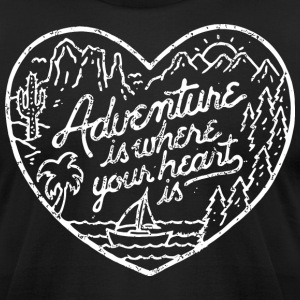 Funny Adventure Shirts - Men's T-Shirt by American Apparel