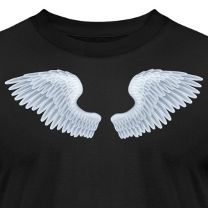 Angel Wings tshirt - Men's T-Shirt by American Apparel