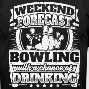 Weekend Forecast Bowling Drinking Tee - Men's T-Shirt by American Apparel