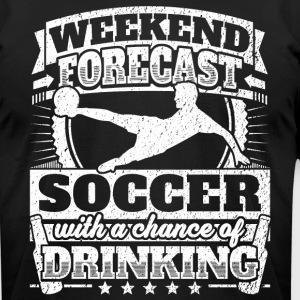 Weekend Forecast Soccer Drinking Tee - Men's T-Shirt by American Apparel