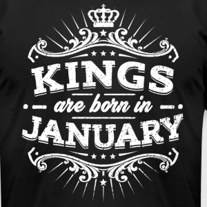 Kings Are Born In January Birthday Shirt - Men's T-Shirt by American Apparel