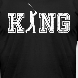 King of Golf graphic golfer shirt - Men's T-Shirt by American Apparel