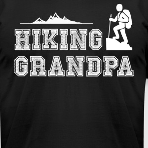 Hiking Grandpa T Shirt - Men's T-Shirt by American Apparel