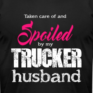 Spoiled By My Trucker Husband T Shirt - Men's T-Shirt by American Apparel