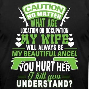 My Wife Will Always Be My Beautiful Angel T Shirt - Men's T-Shirt by American Apparel