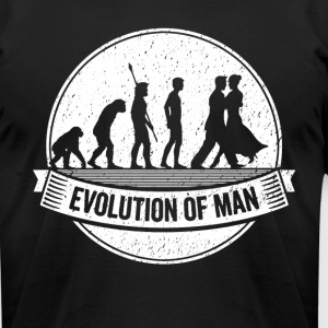 Funny Dancer Graphic Dancers Evolution Dancing Tee - Men's T-Shirt by American Apparel
