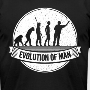 Funny Dart: Graphic Darts Evolution Darts Shirt - Men's T-Shirt by American Apparel