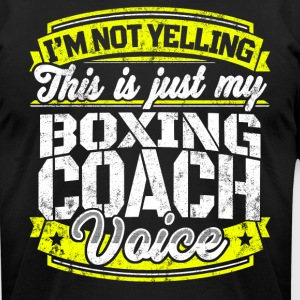 Funny Boxing coach: My Boxing Coach Voice - Men's T-Shirt by American Apparel