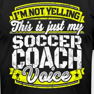 Funny Soccer coach: My Soccer Coach Voice - Men's T-Shirt by American Apparel