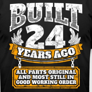 24th birthday gift idea: Built 24 years ago Shirt - Men's T-Shirt by American Apparel
