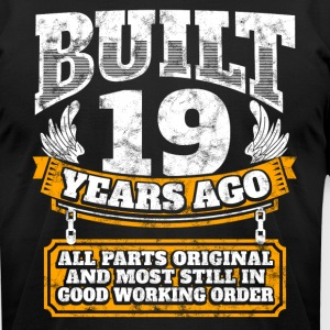19th birthday gift idea: Built 19 years ago Shirt - Men's T-Shirt by American Apparel