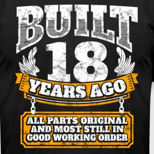 18th birthday gift idea: Built 18 years ago Shirt - Men's T-Shirt by American Apparel
