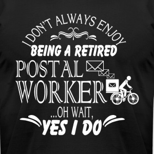 Retired Postal Worker T Shirt - Men's T-Shirt by American Apparel