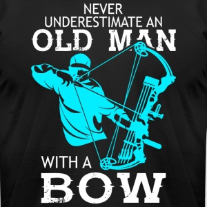 Old Man With A Bow T Shirt - Men's T-Shirt by American Apparel