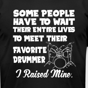 Favorite Drummer T Shirt - Men's T-Shirt by American Apparel