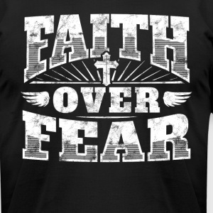 Cool christian shirt: Faith Over Fear jesus shirt - Men's T-Shirt by American Apparel